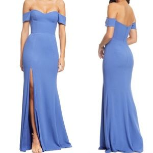 Dress the population Logan off the shoulder gown